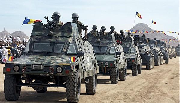 صورة توضيحية لاحدى كتائب القوات التشادية